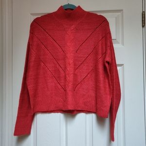 NWT Moral Fiber Red Sweater Open Knit Cozy Size XL
